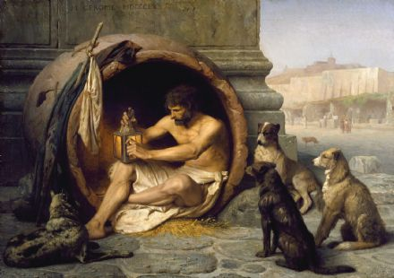 Gerome, Jean Leon: Diogenes. Fine Art Print/Poster. Sizes: A4/A3/A2/A1 (002839)